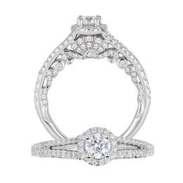 Ariel 14Kt White Gold Bridal Ring Set image 1