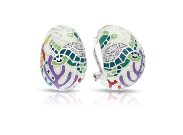 Belle Etoile Sea Turtle Earrings image 2