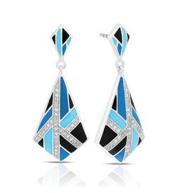 Belle Etoile Delano Earrings Blue and Black image 2