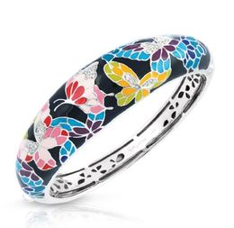 Belle Etoile Butterfly Kisses Black Bangle image 2