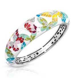 Belle Etoile Butterfly Kisses Ivory Bangle image 2