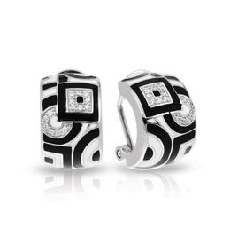 Geometrica Black and White Earrings image 2
