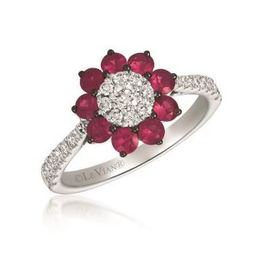 LeVian Vanilla Diamond and Passion Ruby Ring set in Vanilla Gold image 2