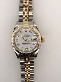 Rolex Pre-Owned with White Diamond Dial image 2