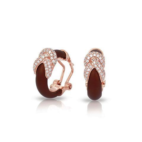 Belle Etoile Ariadne Brown and Rose Earrings image 2