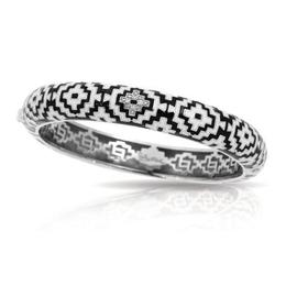 Belle Etoile Aztec Black and White Bangle image 2