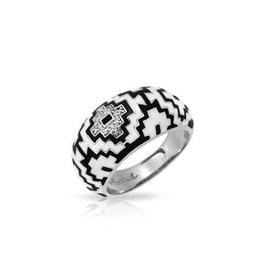 Belle Etoile Aztec Black and White Ring image 2
