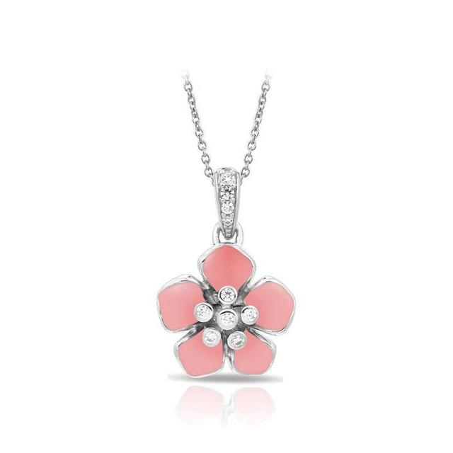 Belle Etoile Forget - Me - Not Rose Quartz Pendant image 2