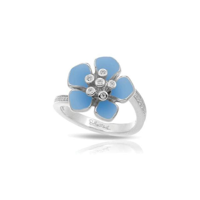Belle Etoile Forget - Me - Not Serenity Blue Ring image 2