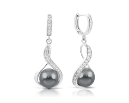 Belle Etoile Liliana Gray Earrings image 2