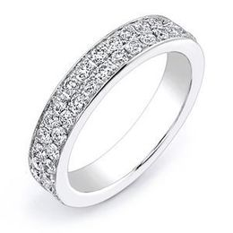 Dazzling Diamond Wedding Band by Stardust