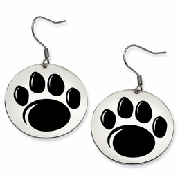 704c076fb Penn State Nittany Lion Paw Disc Dangle Earrings image 2