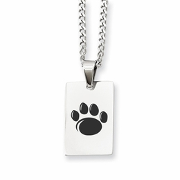 Penn State Nittany Lions Rectangle Paw Pendant image 2