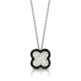 Gothica Pendant with Black and White Diamonds image 2