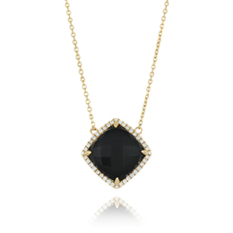 Gatsby Black Onyx and Diamond Pendant image 2