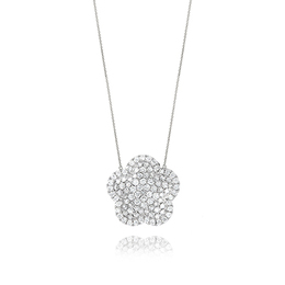 Diamond Fashion Flower Pendant image 2