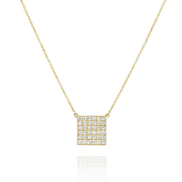 Square Diamond Fashion Pendant image 2