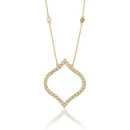 Diamond Fashion Pendant in Yellow Gold image 2