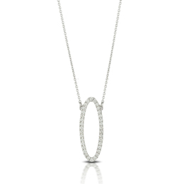 Diamond Oval Pendant image 2