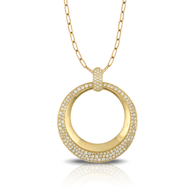 Diamond Fashion Circle Pendant image 2