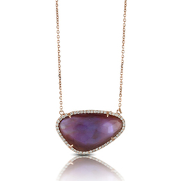 Viola Amethyst and Diamond Necklace image 2