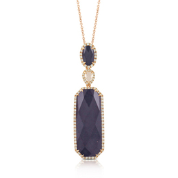 Imperial Amethyst and Black Hematite Pendant image 2