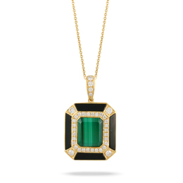 Verde Malachite and Black Onyx Pendant image 2