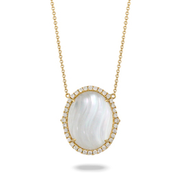 White Orchid Mother of Pearl Pendant image 2