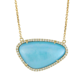 St. Tropez Turquoise Mother of Pearl Necklace image 2