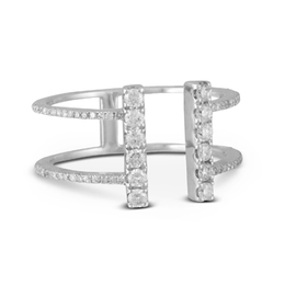 Diamond Fashion Bar Ring image 2