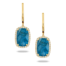 Laguna Blue Topaz with Aqua Appatite Earrings image 2