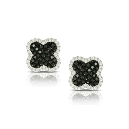 Gothica Black and White Diamond Earrings image 2