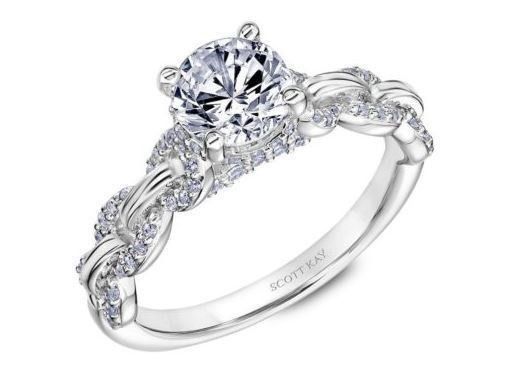Scott Kay SK5641 Embrace Engagement Ring image 2