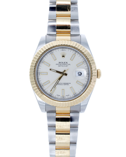 Rolex Pre-Owned 41mm Two Tone Datejust with Ivory Dial  image 2