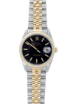 Rolex  Pre-Owned Two Tone 34mm Black Dial  image 2