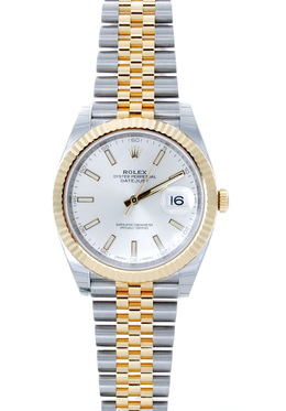 Rolex Pre-Owned 31mm Two Tone Silver Index image 2