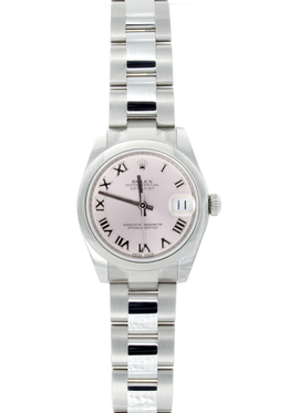 Rolex Pre-Owned 31mm Stainless Steel with Pink Roman Dial image 2