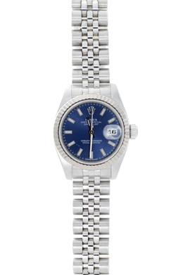 Rolex Pre-Owned Stainless Steel with Blue Dial image 2
