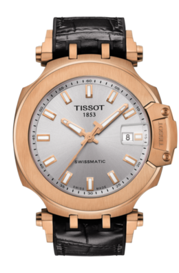 Tissot T-Race Swissmatic in Rose with Silver Dial image 2