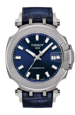 Tissot T-Race Swissmatic Watch in Stainless Blue image 2