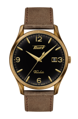 Tissot Heritage Visodate with Brown Leather Strap image 2