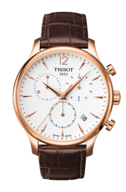 Tissot Tradition Chronograph in Rose and Brown image 2