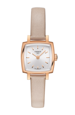 Tissot Lovely Square in Rose with Leather Band  image 2