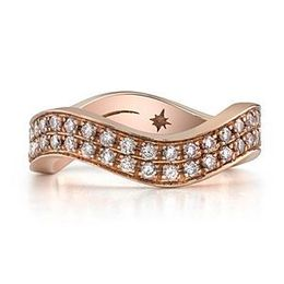 Stylish Rose Gold Diamond Diamond Band by Stardust