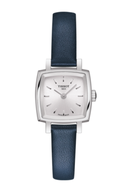 Tissot Lovely Square with Blue Leather Strap image 2