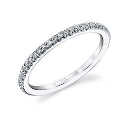 Classic Diamond Wedding Band image 2