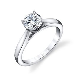 Aubree Modern Solitaire Ring  image 2