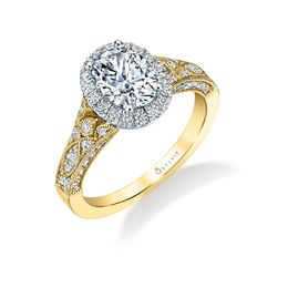 Cheri Vintage Inspired Oval Engagement Ring image 2