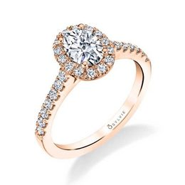 Emma Classic Oval Engagement Ring with Halo image 2