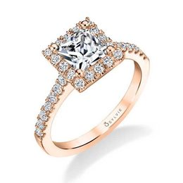 Emma Princess Cut Engagement Ring with Halo image 2